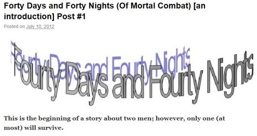 40 days title